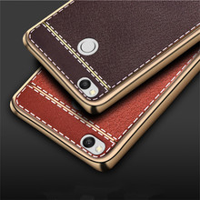 For Xiaomi Redmi 3 Pro Slim Litchi Grain Painting Soft Plating TPU Back Cover Case For Xiaomi Redmi 3S 3 S 3Pro Phone Bag & case