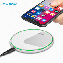 FDGAO 10W Fast Qi Wireless Charger For iPhone X/XS Max XR 8 Plus Mirror Phone Charging Pad Samsung S9 S10+ Note 9