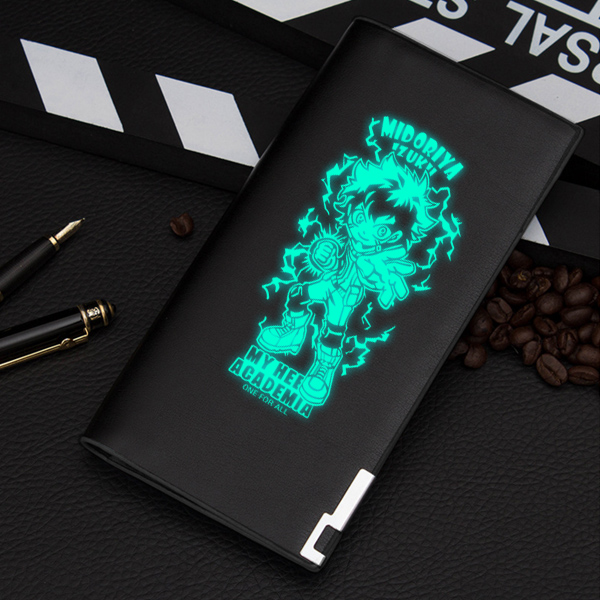 Anime My Hero Academia Unisex Long Purse Pu Leather Wallet Bakugou Katsuki ID Card Holder Gift Money Clutch Change Pocket