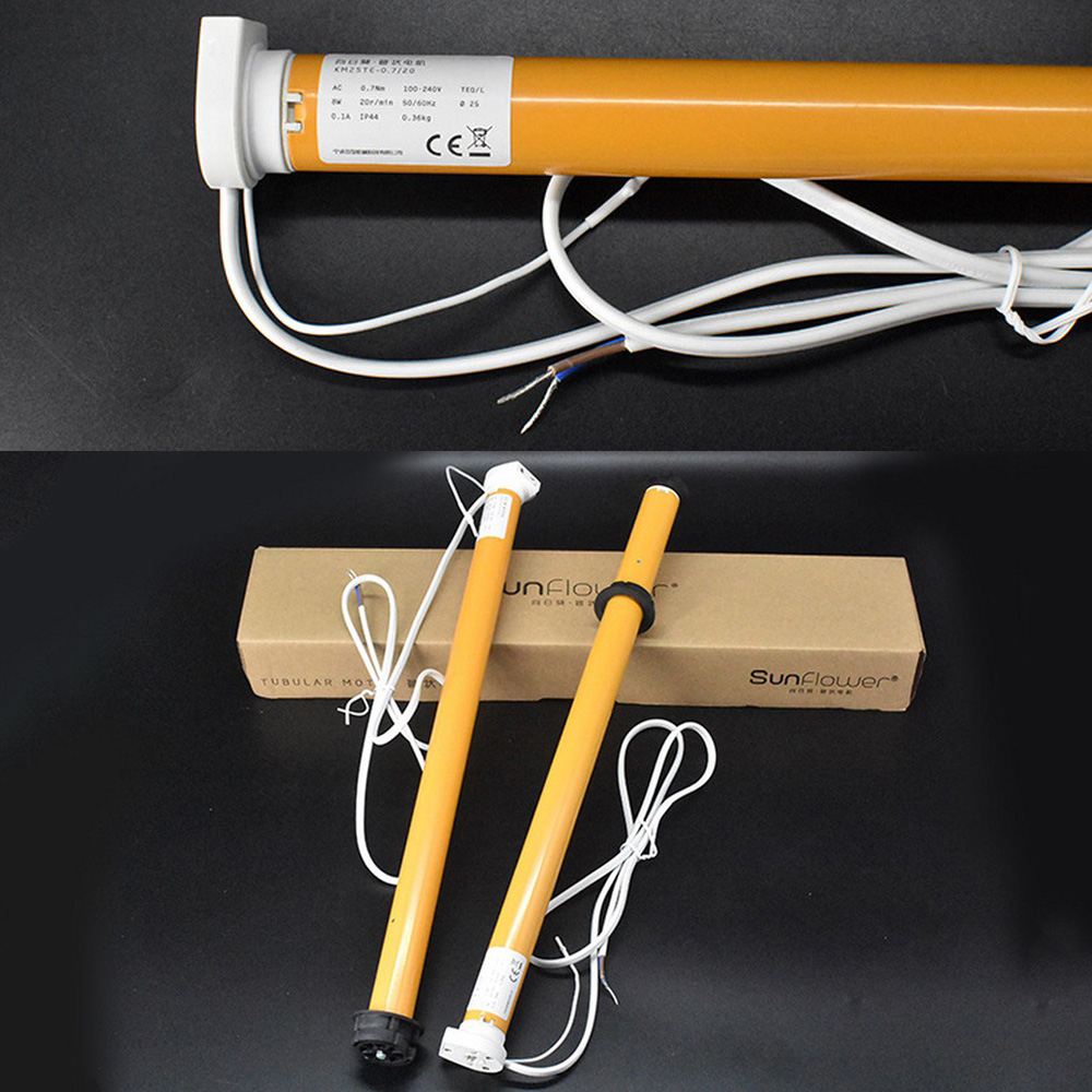 Store électrique bricolage DC 12 V diamètre 25mm 30 tr/min 11 W Kit de moteur tubulaire d'ombre ensemble longueur 315mm Kits Hoder