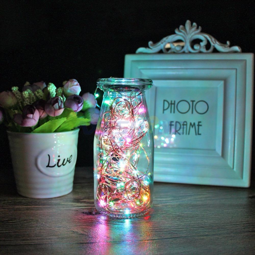 AXESHINE LED String Light 10m 100Leds Copper Wire Fairy Lights Seven ...