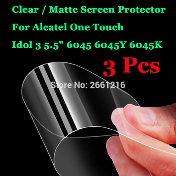 3 Pcs/Lot For Alcatel One Touch Idol 3 5.5 6045Y HD Clear / Anti-Glare Matte Front Screen Protector Touch Film Protection Skin image