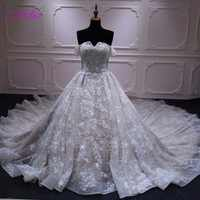 Melice New Luxury Beaded Pearls Ball Gown Wedding Dress 2019 Gorgeous Lace Royal Train Princess wedding Dress Vestido de Noiva