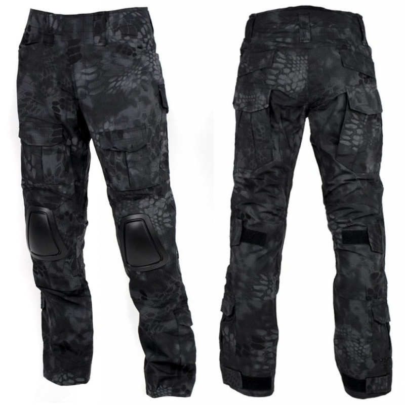 Kryptek Typhon Camouflage Military Tactical Pants With Knee Pads G2 Camo Men Army Gear Airsoft Hunting
