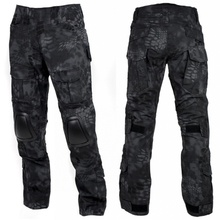 eecf0417d8855 Kryptek Typhon Camouflage Military Tactical Pants With Knee Pads G2 Camo  Men Army Gear Airsoft Hunting