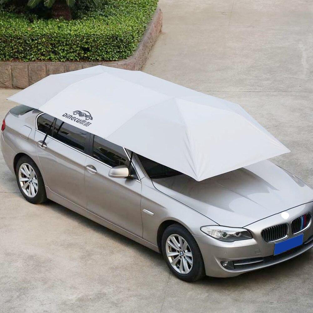 Pique-nique bâche de voiture parapluie Mobile ombre de soleil Auto boutons coupe-vent pliable étanche à la poussière extérieur facile installer isolation étanche