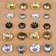 Изготовление ювелирных изделий серьги выводы рондели для бусин brincos застежка ленточки Цветок филигрань spacer обжимные шнуры цепочки и Ожерелья Жемчуг Топ