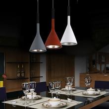 Free shipping Kitchen single aluminum pendant lights Nordic Simple Bar lamp loft industrial light dining room