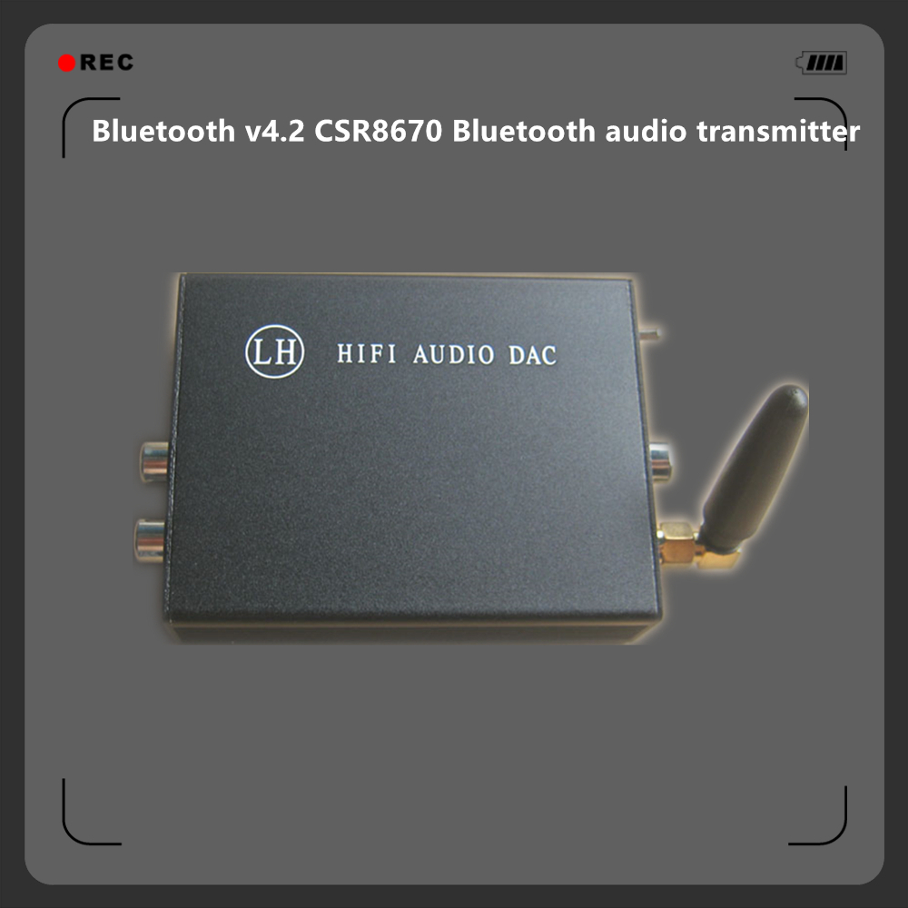 Bluetooth v4.2 CSR8670 Bluetooth Wireless APTX Lossless Audio Transmitter AUX / Optical / Coaxial transform Bluetooth Audio