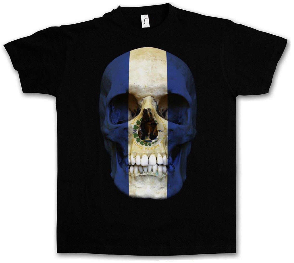 Классический Сальвадор череп флаг футболка Байкер MC баннер рубашка Размеры S 5Xl