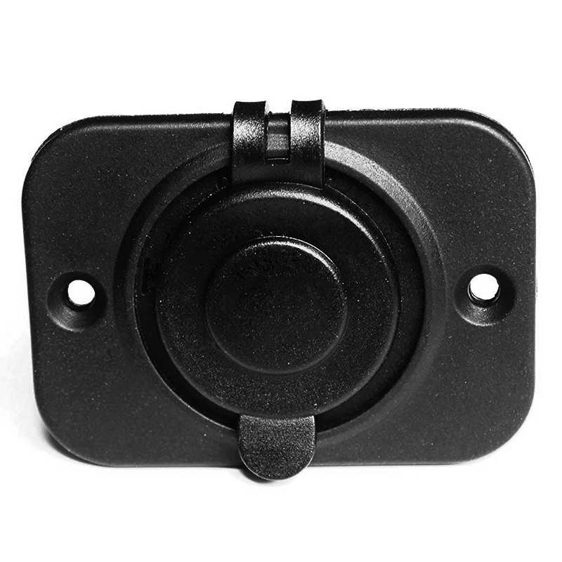 Waterproof Power Motorcycle Boat Car Cigarette Lighter Socket with Plate 12/24V Car Accesories