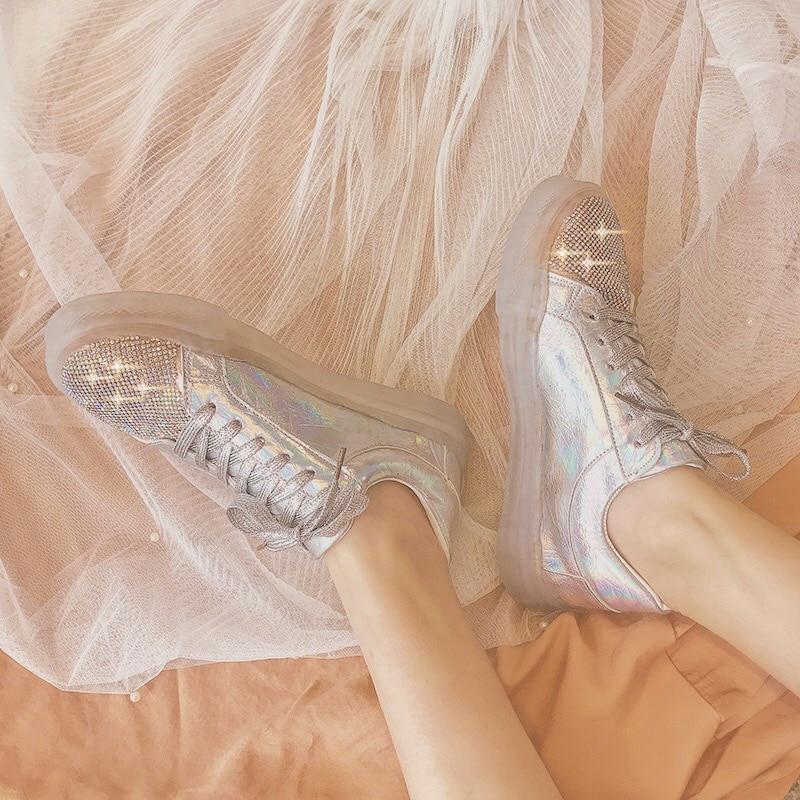 YUANMIING Women Casual Shoes Women Flats Women Sneakers Spring Autumn Female Shoes Lace Up Fashion for Women Shoes in Women 39 s Flats from Shoes