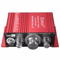 Mini 2CH Hi Fi Digital Auto Car Stereo Amplifier Sound Mode Audio Music Booster Support DVD