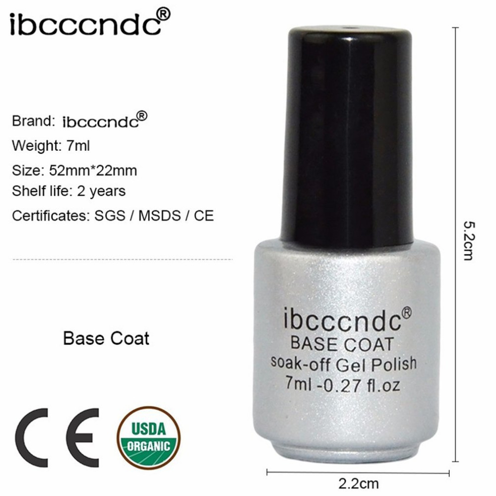 Ibcccndc Top Base Coat Gel Nail Polish Semi Permanent Primer Varnish Soak Off Nails Art Manicure Tools In From Beauty Health On