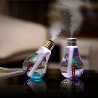 Portable Desktop 7 Color Bulb Style Air Humidifier Mini USB Home Travel Aromatherapy 400ML Ultrasonic Cool