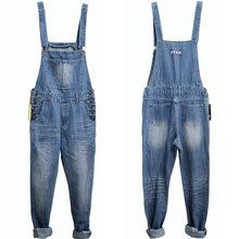 Men Spring Autumn Jeans Overall Casual Royal Blue Light Blue Plus Size Mens Bib Pants Skinny Jean Overall Vintage Pants S-5XL
