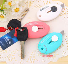 Pen knife small mini letter knife of fine arts in 2050 South Korea lovely mini portable hanging hole(China)