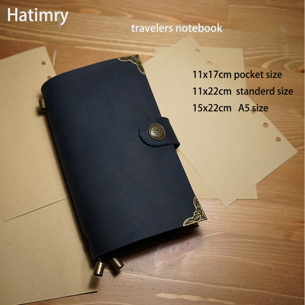 Hatimry Genuine leather travelers with vintage lock notebook diary caderno escolar defter journal books livros sketch notebook hatimry genuine leather journal notebook tavelers books handmade vintage engrave flower on leather cover books school supplies