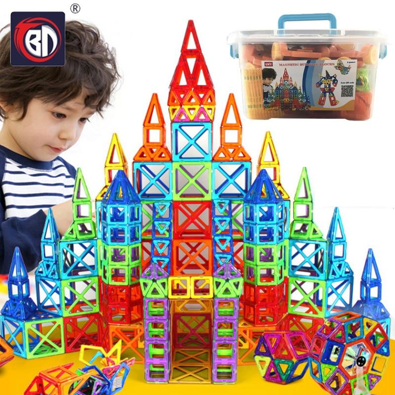 BD 252pcs Blocks Magnetic Designer Construction Set Model & Building Toy Plastic Magnetic Blocks Educational Toys For Kids Gifts(China)