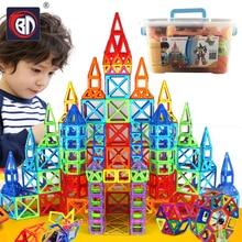 BD 252pcs Blocks Magnetic Designer Construction Set Model & Building Toy Plastic Magnetic Blocks Educational Toys For Kids Gifts стоимость