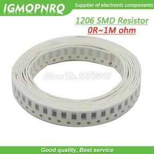 100Pcs 1206 SMD resistor 0R - 10M 1/2W 0 1 10 100 150 220 330 470 ohm 1K 2.2K 10K 100K 200K 0R 1R 10R 100R 200R 220R 330R 470R(China)