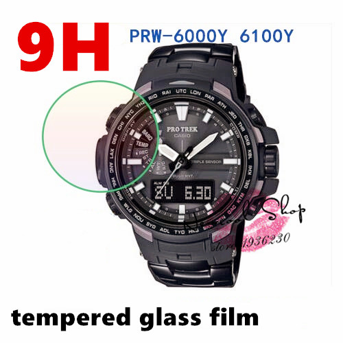 3pcs/lot Tempered Glass Screen Protector Guard Skin Film For Casio PRW-6000-1 YT 6100 Y- ...