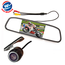 Cheaper Auto Parking Assistance System 2 in 1 4.3 Digital TFT LCD Mirror Car Parking Monitor + 170 Degrees Mini Car Rear view Camera