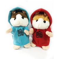 16cm LovelyTalking nodding Hamster Mouse Pet Plush Toy Speak Talk Sound Record Repeat Stuffed Plush Animal Kawaii HamsterToys
