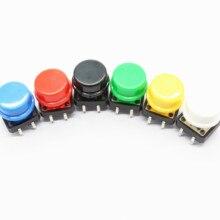 6 шт. 12X12 мм большой ключ модуль большая кнопка Модуль светильник сенсорный выключатель модуль с шляпой выход высокого уровня для arduino usb