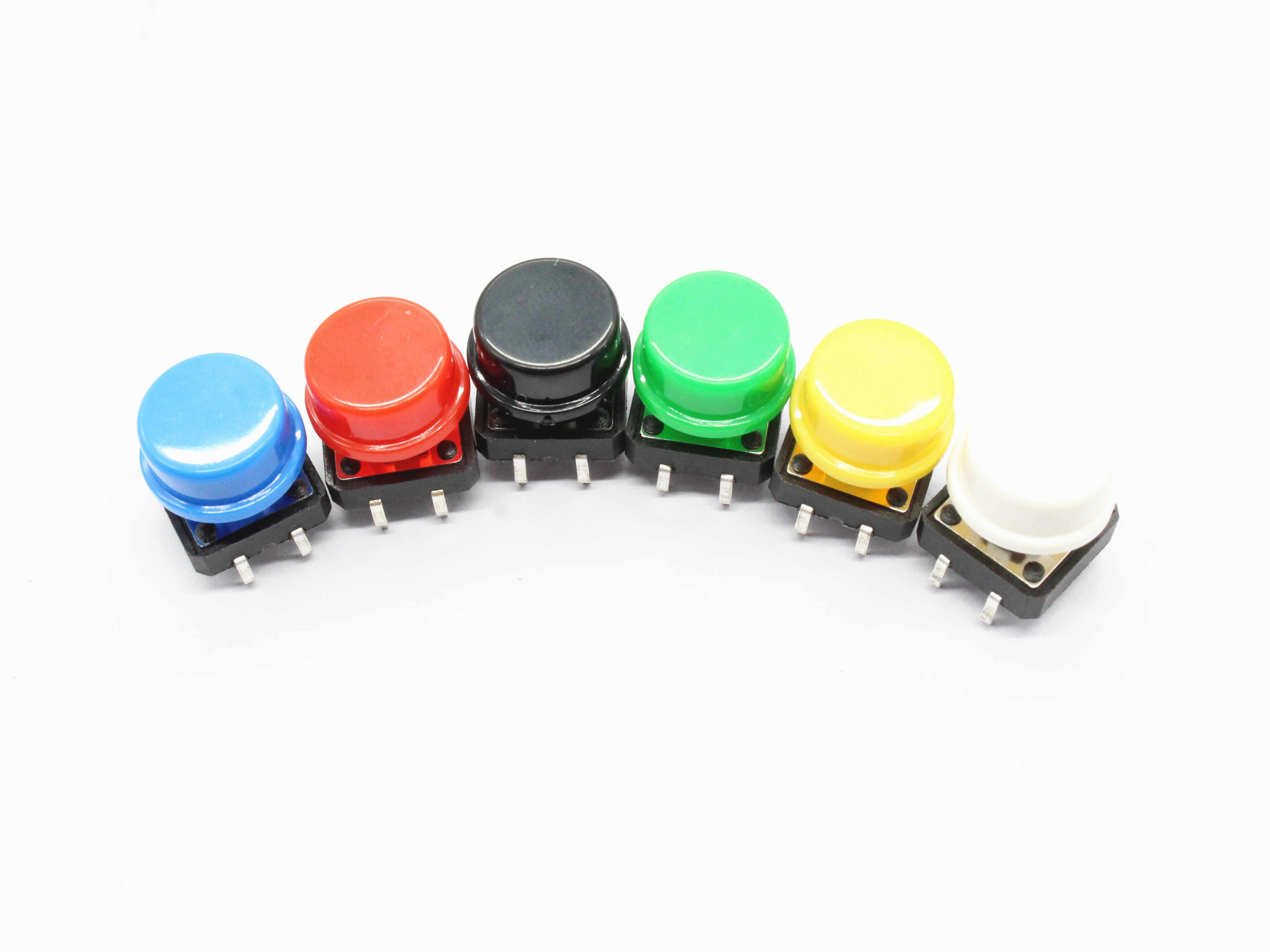 6 PCS 12X12 MM Grote sleutel module Grote knop module Light touch switch module met hoed Hoge niveau uitgang voor arduino usb