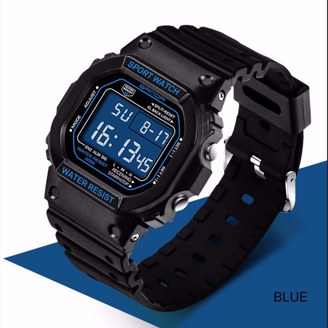 SANDA 329 Digital Watch Men Waterproof Diving LED Men's Watch Sport Mens Watches Top Brand Military relogio masculino Saat