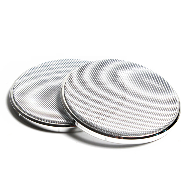 2PCS 1 inch 2 inch 3 inch Car Speaker Grill Mesh Enclosure Net Plastic Frame Protective Grille Circle Speaker Accessories