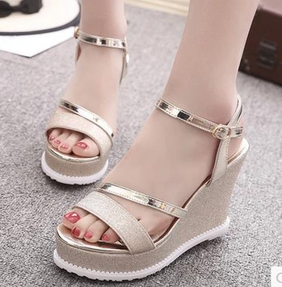 Women Sandals Fashion Comfortable Bohemian Wedges Women Sandals For Lady Shoes High Platform Silver Gold Black Shoes phyanic 2017 gladiator sandals gold silver shoes woman summer platform wedges glitters creepers casual women shoes phy3323