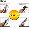 Kemei Electric Rechargable Shaver Razor for Men Nose Ear Hair Cutter Ear Hair Trimmer Haircut Machine Face Eyebrows Hair Removal
