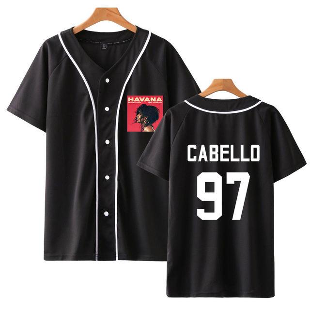 CAMILA CABELLO BASEBALL T-SHIRT (6 VARIAN)