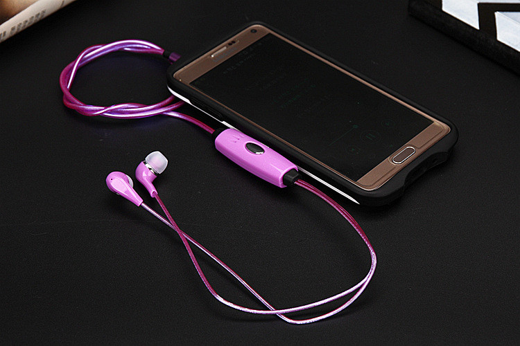 Original SMILYOU HY-E11 Brand New Fashion Earphone Stereo LED Earphones 3.5mm Earbuds For iPhone Samsung Huawei MP3 Player