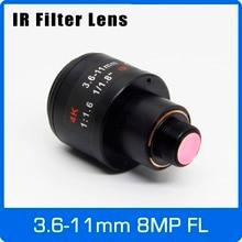 8 megapixel m12 montar varifocal 4 k lente para imx179/317/377/477 ação/câmeras esportivas 1/1.8 polegada 3.6 11mm foco manual e zoom
