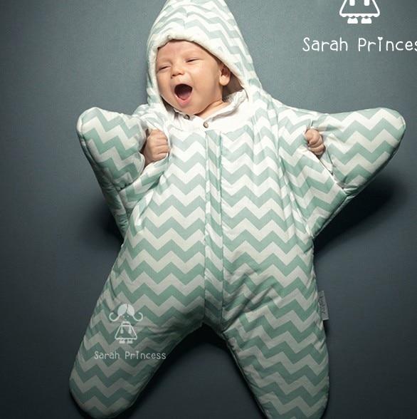 Небольшой звезды профилактики играть пакет новорожденных звезд ребенка спальный мешок хлопка утолщение ребенка с рукав зима