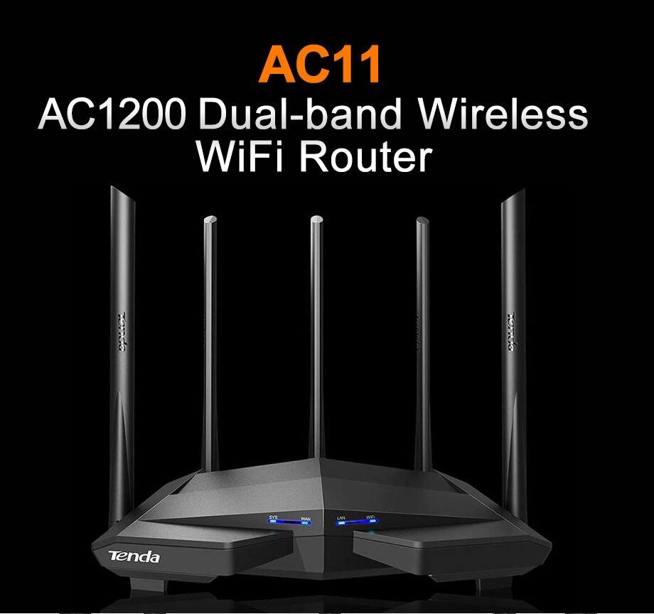 Tenda AC11 AC1200 Sans Fil WiFi Routeur Répéteur Dual band 2.4G/5G Gigabit port 802.11AC