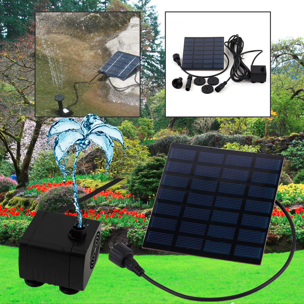 6v 1.2w Solar Power Water Pump Garden Sun Plants Watering Outdoor Tools Solar Power Panel Bank Charger Pool Water Pump Consumer Electronics