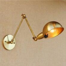 Lámpara de pared LED Vintage Industrial luz de pared de hierro decoración de pared dormitorio wandlámpara de salón decoración de tocador luz aplique Murale