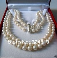 Free Shipping 8 9 MM AKOYA SALTWATER PEARL NECKLACE 18 A