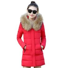 Hot! Fashion Winter Jacket Women 2016 New Winter Coat Women Fur Collar Warm Woman Parka Outerwear Down jacket Parkas size S-XXL