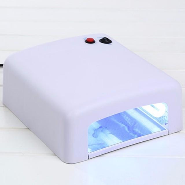 Высокое качество 36 Вт УФ-лампы 220 В ЕС Plug Nail Art Сушилка гелем УФ-лампы Light tube ногтей инструмент ногтей гель для ногтей uv led лампа