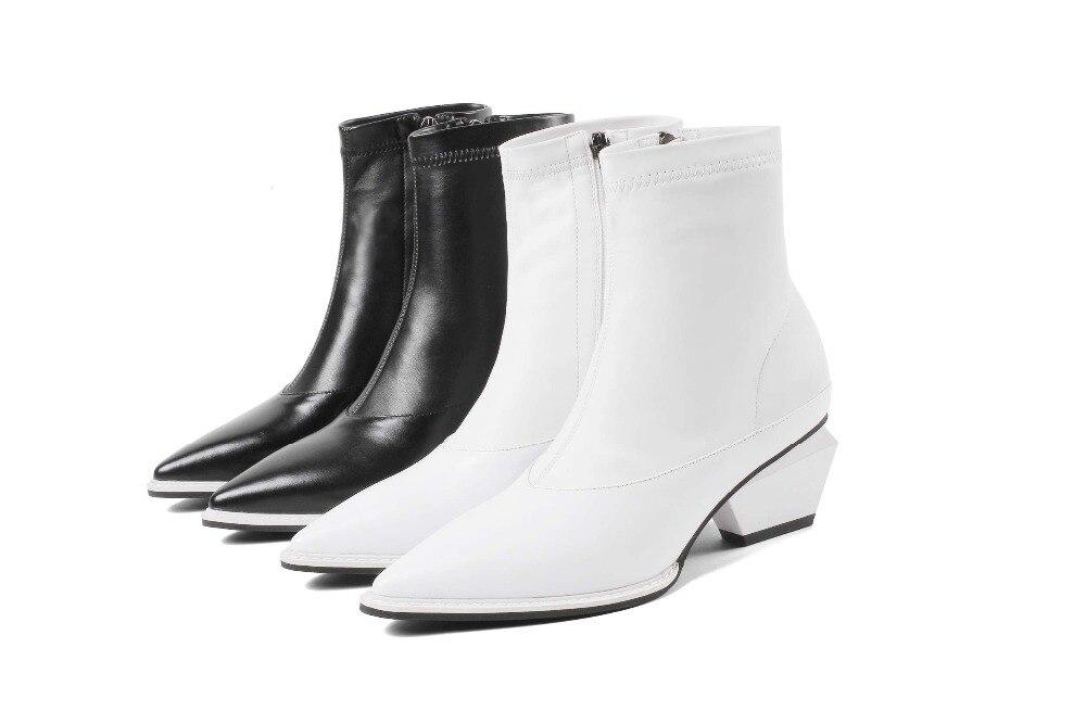 Bout De En Bottines Chelsea blanc L80 Couture Zip Extensible EDI9H2