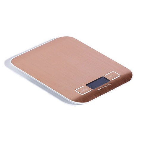 Booyah New Listing 10KG/1g Stainless Steel Portable Digital Kitchen Scales High Precision Rose gold Electronic Weighing Scales Multan