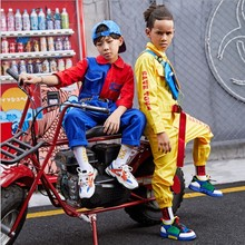 Kids Dancing Unifom Stage Costume Hip-Hop Onesies Siamese Pants Clothing Clothes Girls Boys Performance