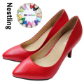 New 2016 Women's High Heels Women Pumps Sexy Bride Party Thin Heel Pointed Toe Sheepskin High Heel Shoes Plue Size 34-41 D30-579