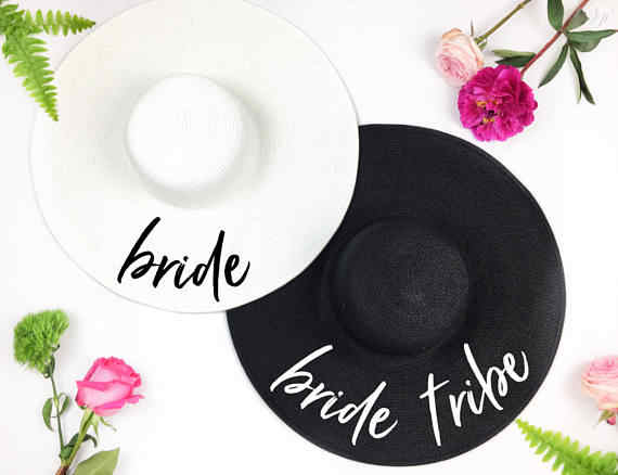 8aed48d799f99 Customize Bride Tribe beach wedding floppy Mrs Sequin Sun Hats Just married  Drunk in love Honeymoon