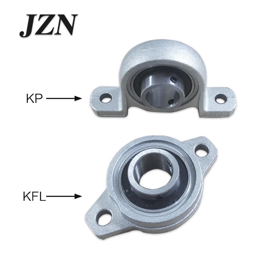 4pcs Kp08 Kfl08 Kfl000 Kp Bearing Insert Shaft Support Spherical Roller Zinc Alloy Mounted Bearings Pillow Block Housing
